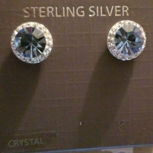 Beautiful sparkling sterling silver earrings